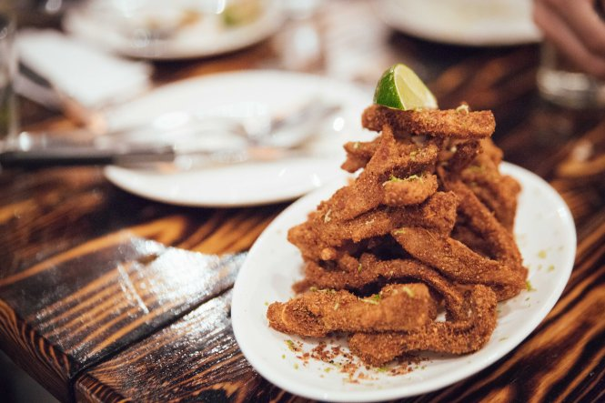 Crispy Spiced Pig Ears :: $16++