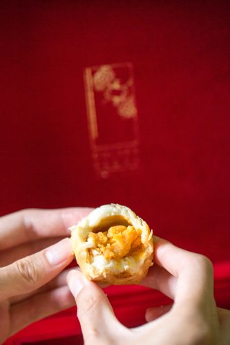Sweet Potato Mooncake in Crispy Filo Pastry.