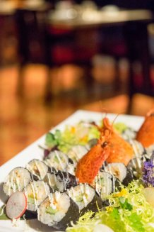 Lobster Sushi and Lobster Maki Roll