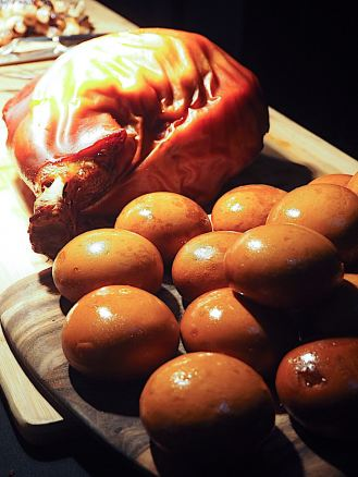 Hickory Pulled Pork Bun with Apple Slaw
